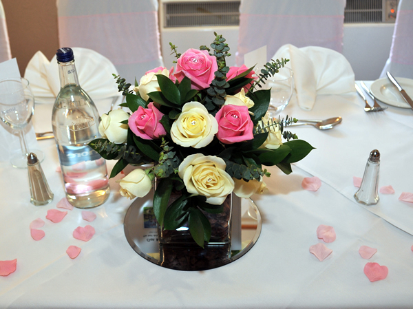 Wedding Flowers For Venue : Wedding venue decoration gretna green flower basket